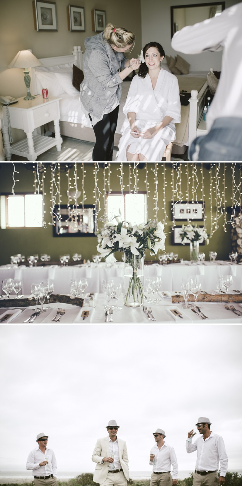 A South African Destination Beach Wedding At Pasternoster Lodge With A Grey Colour Scheme And A Raw Chiffon Bespoke Wedding Dress With A White Lily Bouquet Photographed By Jules Morgan._0002