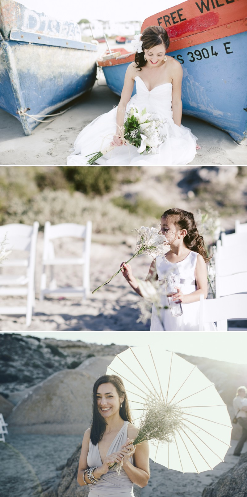 A South African Destination Beach Wedding At Pasternoster Lodge With A Grey Colour Scheme And A Raw Chiffon Bespoke Wedding Dress With A White Lily Bouquet Photographed By Jules Morgan._0008