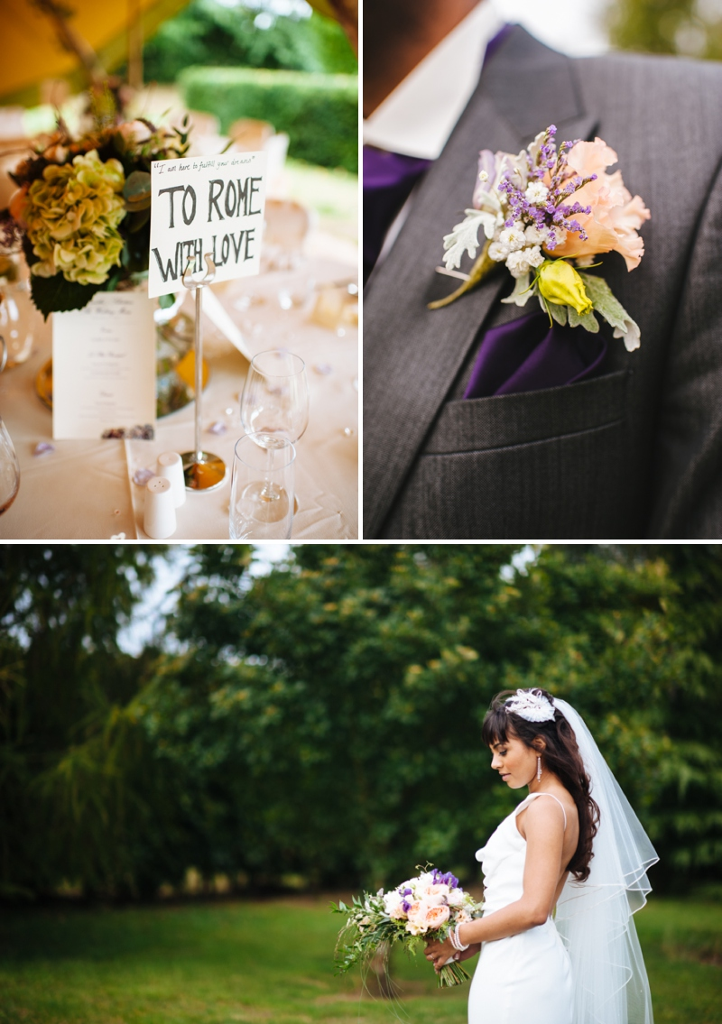 A peach and blush wedding with a David Fielden backless dress and floral crowns_0514