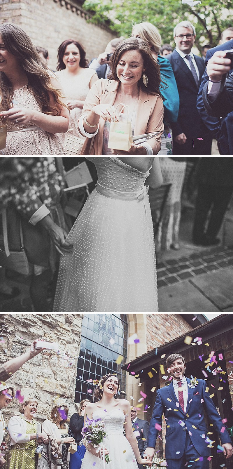 A pink and blue colour scheme Modern wedding at Bedern Hall and The crab and Lobster. Dress by Clinton Lotter, images by Anna Hardy._0007