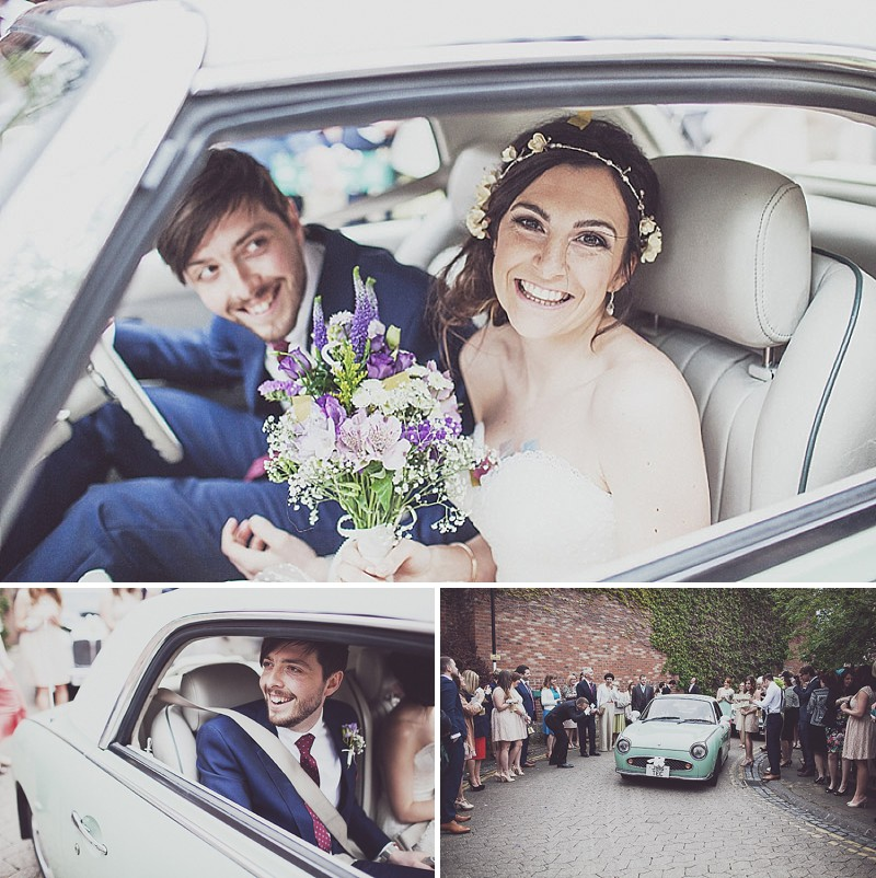 A pink and blue colour scheme Modern wedding at Bedern Hall and The crab and Lobster. Dress by Clinton Lotter, images by Anna Hardy._0009