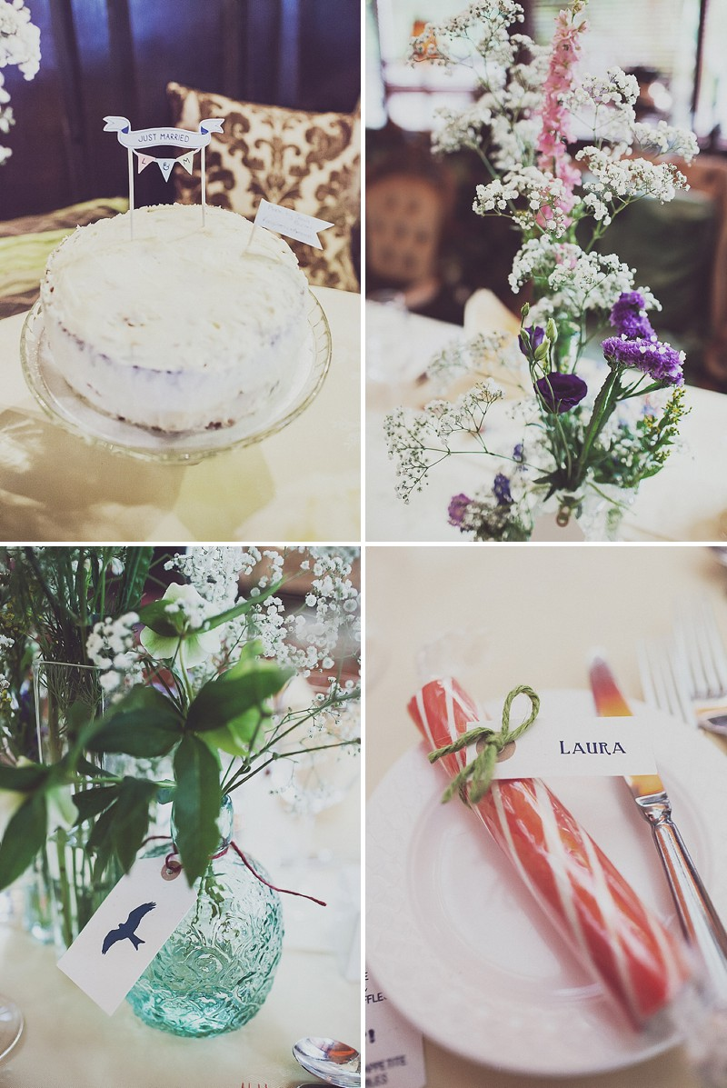 A pink and blue colour scheme Modern wedding at Bedern Hall and The crab and Lobster. Dress by Clinton Lotter, images by Anna Hardy._0014