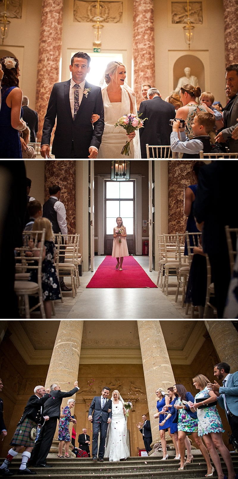 An Elegant Wedding At Stowe House In Buckinghamshire With Bride In Twenties Style Charlie Brear Gown And Groom In Suit By The Kooples Images From Matt Parry Photography_0005