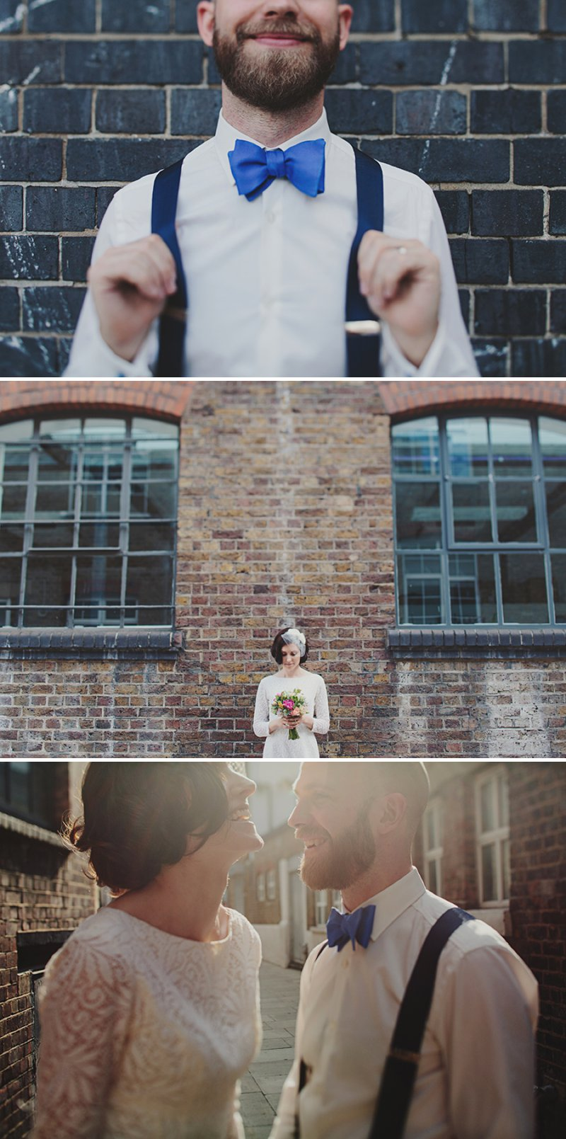 An Intimate And Contemporary Wedding At 6 St Chads Place in London With An Etsy 60s Style Short Wedding Dress And A Pink Rose And Thistle Bouquet Photographed By Jonathan Ong._0012