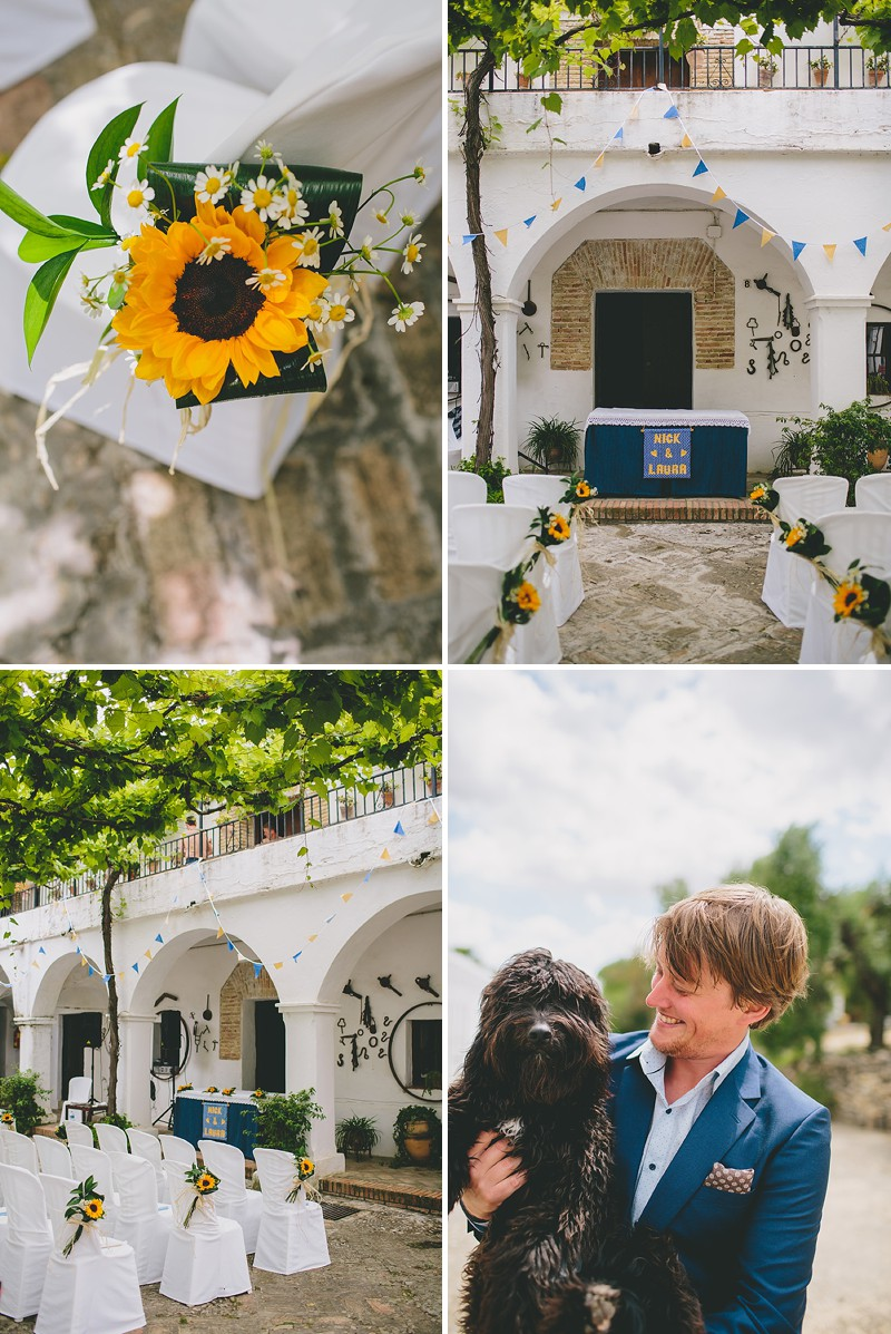 An Intimate Rustic Wedding In Seville Spain With Bride In Temperley Gown And Groom In Navy Reiss Suit With Tan Brogues Images From Zoe Campbell Photography_0003