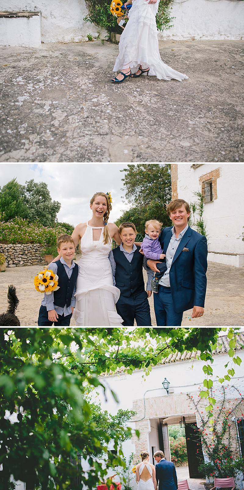An Intimate Rustic Wedding In Seville Spain With Bride In Temperley Gown And Groom In Navy Reiss Suit With Tan Brogues Images From Zoe Campbell Photography_0008