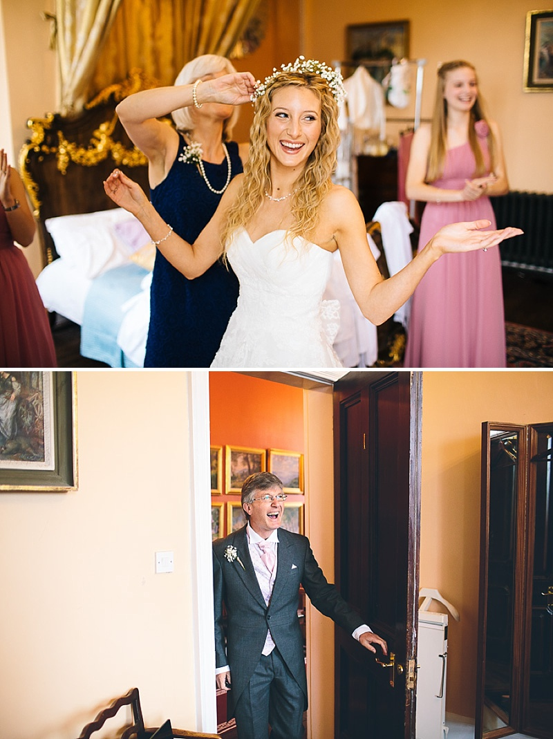 Church Wedding In Cambridge, Reception at Anstey Hall, Bride in Toscana by White One, With Dusky Pink Bridesmaids Gowns And Pink Peony Bouquet, Images by Albert Palmer Photography_0003