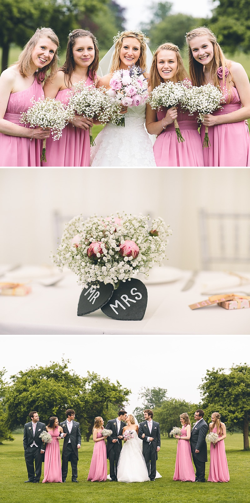 Church Wedding In Cambridge, Reception at Anstey Hall, Bride in Toscana by White One, With Dusky Pink Bridesmaids Gowns And Pink Peony Bouquet, Images by Albert Palmer Photography_0011