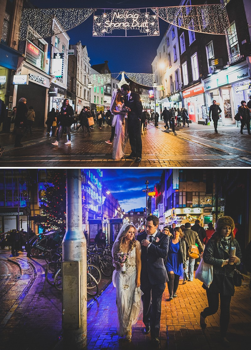 Decadent New Years Eve Wedding In Dublin With Bride In Eden By Jenny Packham And Vamp Sandals By Jimmy Choo And Groom In Navy Reiss Suit With Images From Explore Light Photography_0012