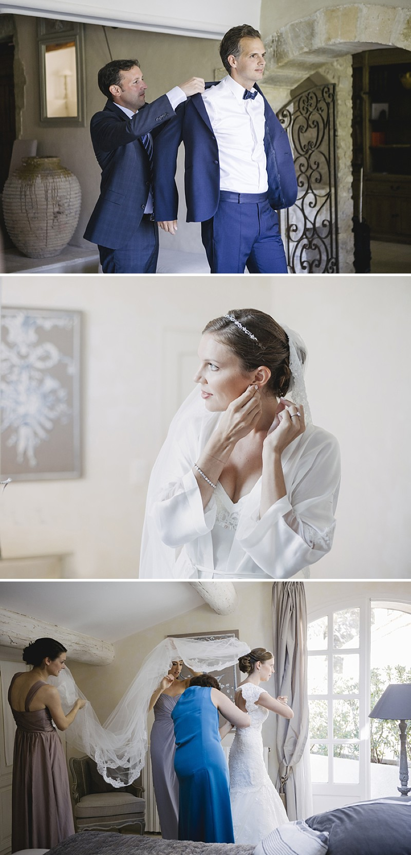 Elegant Wedding At Le Mas De La Rose Provence With Bride In Lace Fishtail Gown By Pronovias And Groom In Navy Armani Tuxedo With Images From Jo Hastings Wedding Photography_0003