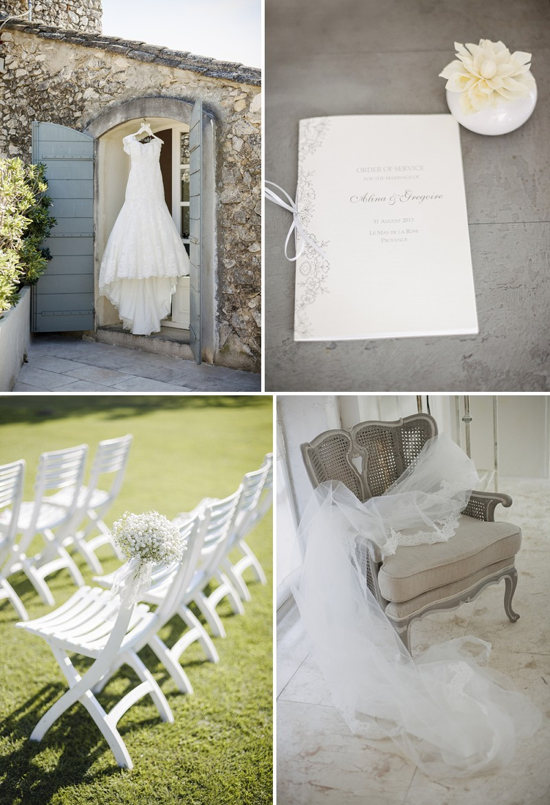 Elegant Wedding At Le Mas De La Rose Provence With Bride In Lace Fishtail Gown By Pronovias And Groom In Navy Armani Tuxedo With Images From Jo Hastings Wedding Photography_0004