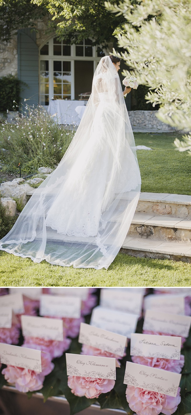 Elegant Wedding At Le Mas De La Rose Provence With Bride In Lace Fishtail Gown By Pronovias And Groom In Navy Armani Tuxedo With Images From Jo Hastings Wedding Photography_0008