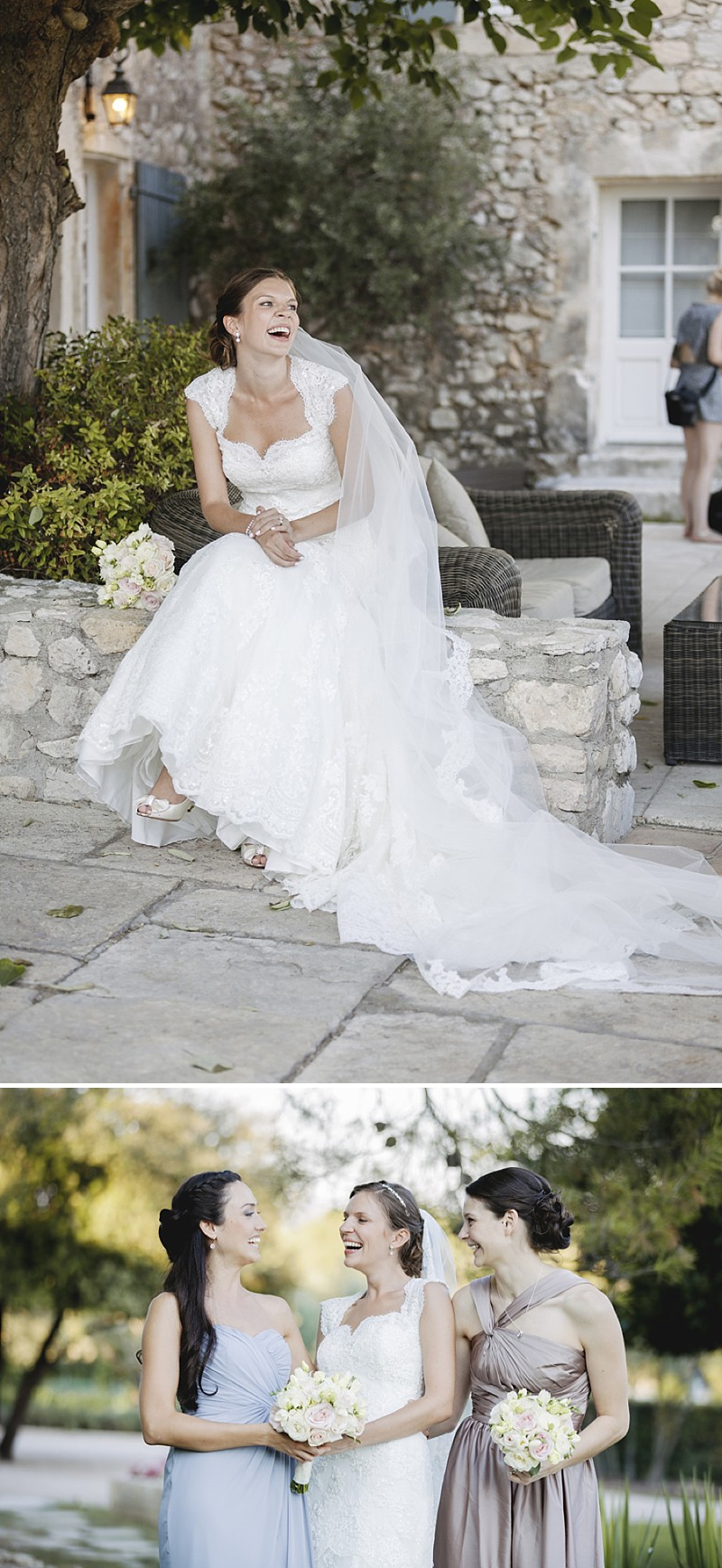 Elegant Wedding At Le Mas De La Rose Provence With Bride In Lace Fishtail Gown By Pronovias And Groom In Navy Armani Tuxedo With Images From Jo Hastings Wedding Photography_0010