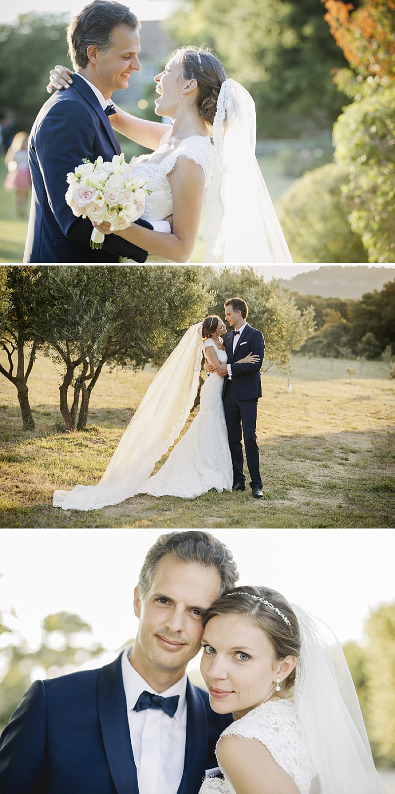 Elegant Wedding At Le Mas De La Rose Provence With Bride In Lace Fishtail Gown By Pronovias And Groom In Navy Armani Tuxedo With Images From Jo Hastings Wedding Photography_0013