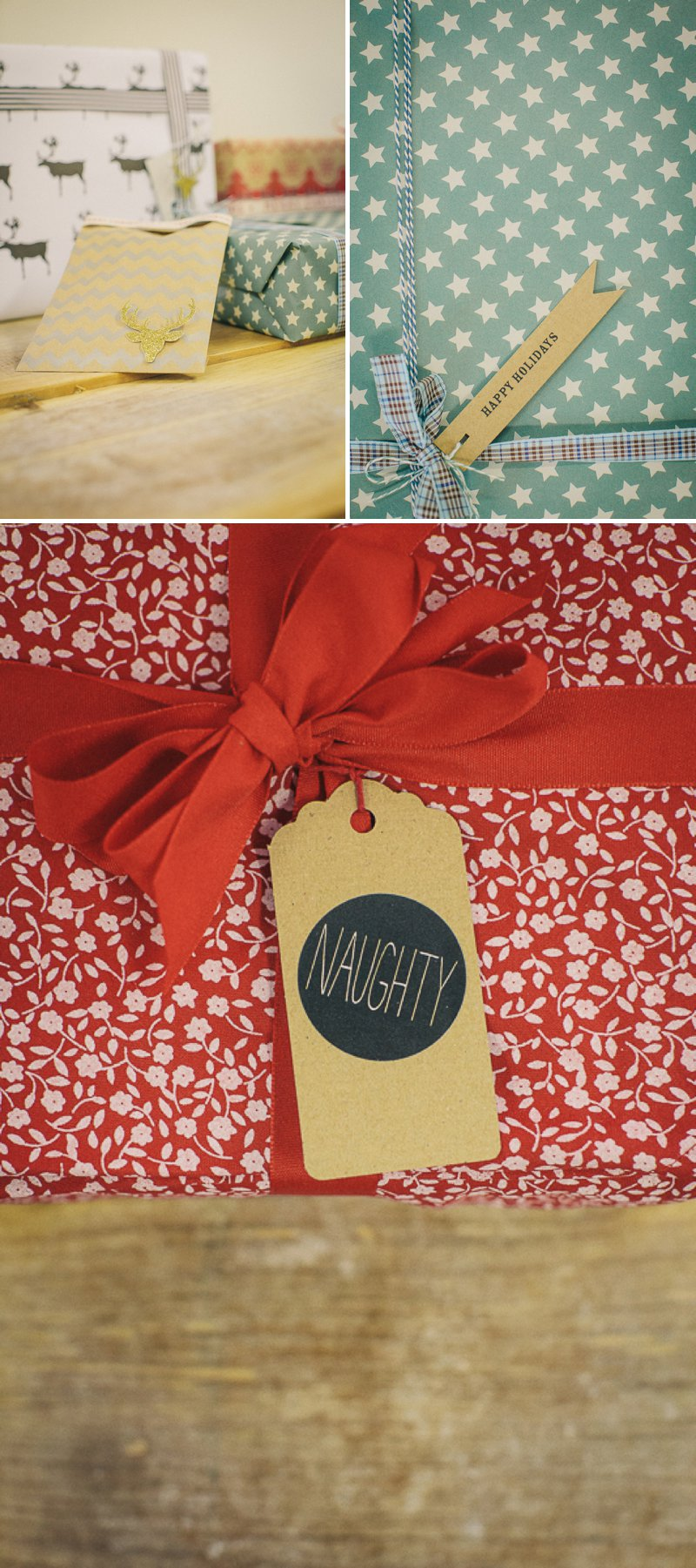 Nine Beautiful And Creative Christmas DIY Gift Wrap Ideas With Ribbons, Fun Gift Tags and Gorgeous Wrapping Paper From Etsy Suppliers._0005