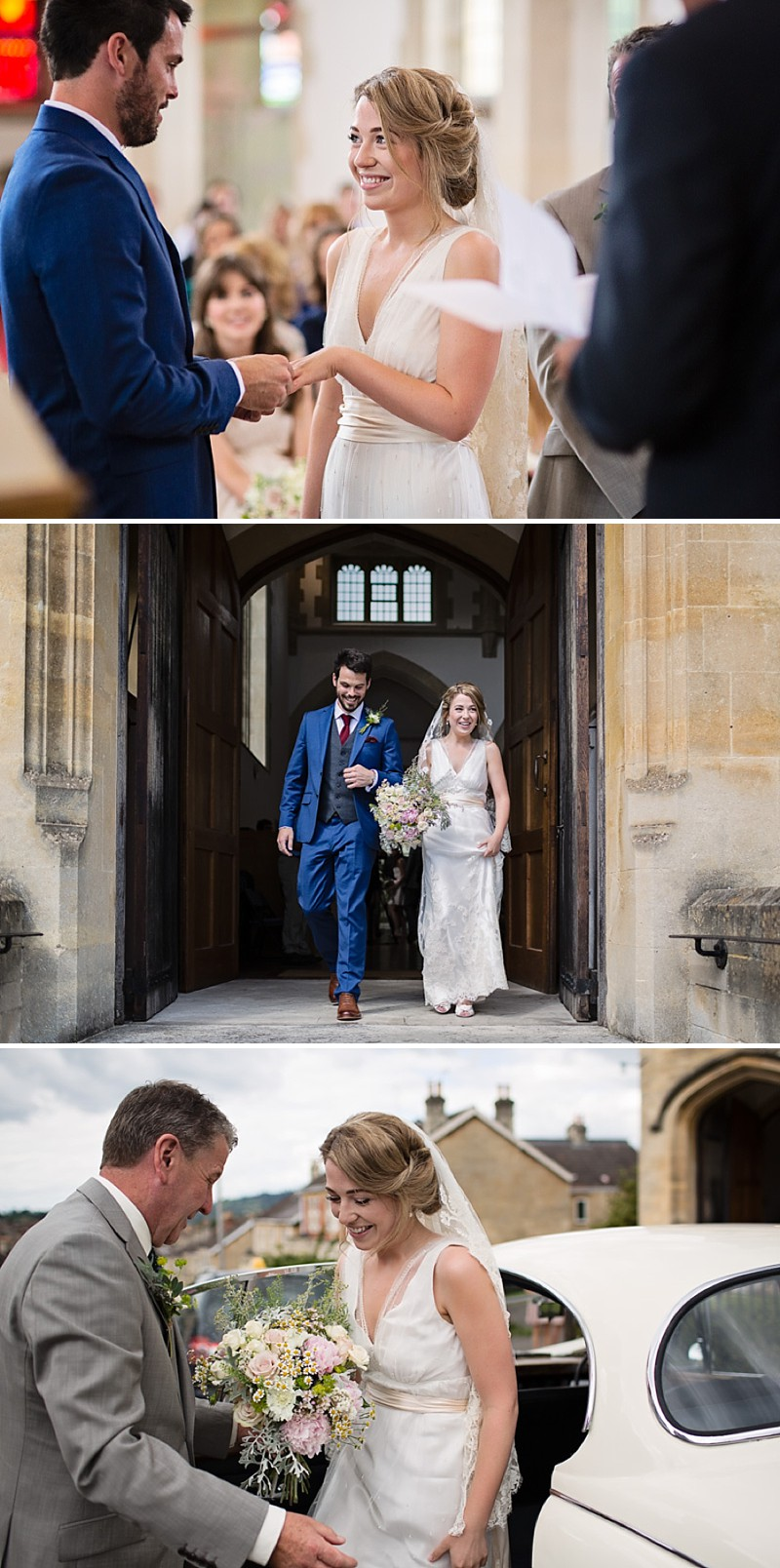 Rustic Marquee Wedding In The South West At Court Farm Near Bath With Bride In Charlie Brear Gown From The Decades Collection And Groom In Navy Reiss Suit rom Isabel Maria Of Allister Freeman Photography_0003