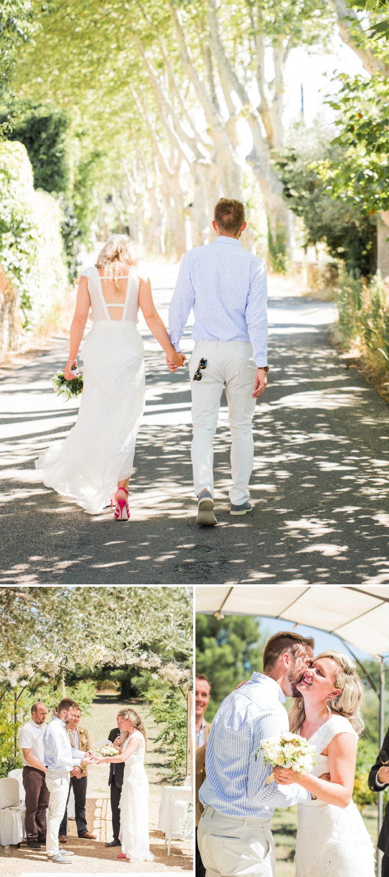 A Beautiful Destination Wedding at Chateau du Puits es Pratx in France With A Handmade Bohemian Wedding Dress And White Colour Scheme By M&J Photography._0004