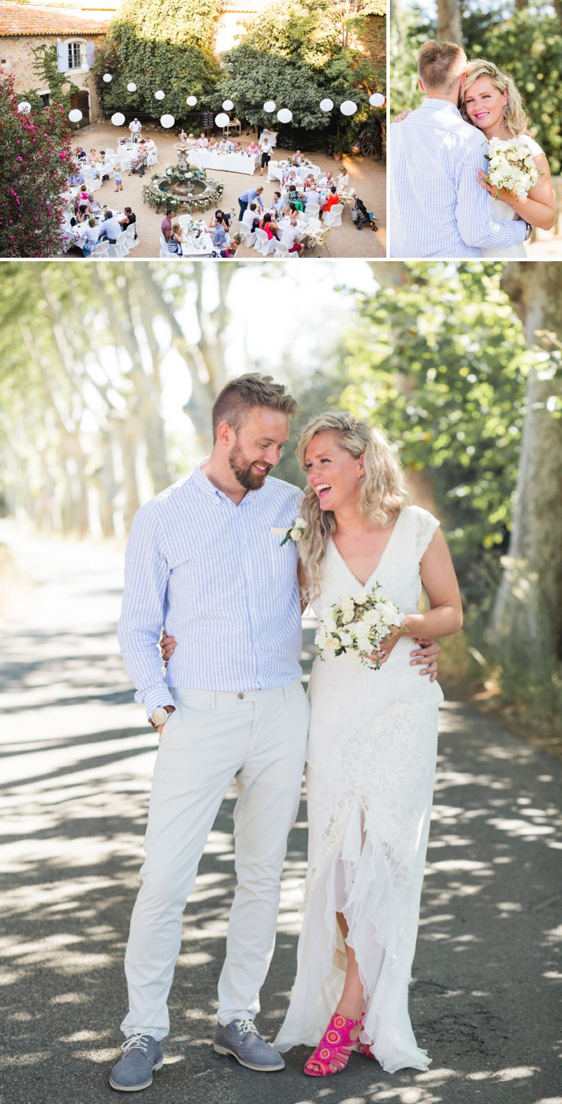 A Beautiful Destination Wedding at Chateau du Puits es Pratx in France With A Handmade Bohemian Wedding Dress And White Colour Scheme By M&J Photography._0006