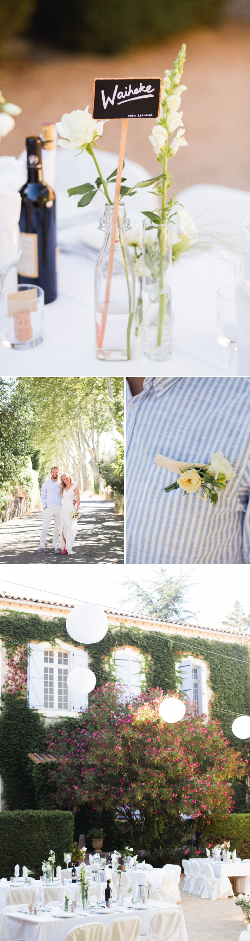 A Beautiful Destination Wedding at Chateau du Puits es Pratx in France With A Handmade Bohemian Wedding Dress And White Colour Scheme By M&J Photography._006a