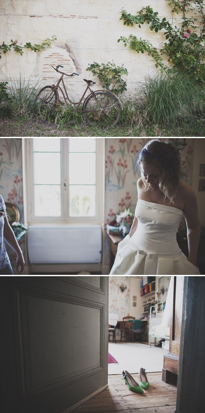A Beautiful Rustic French Destination Wedding At Rivière de Prats In Gironde With A Rosa Clara Wedding Dress And A Pink Rose Bouquet And An Oyster And Cocktail Buffet By Anna Hardy Photography._0001