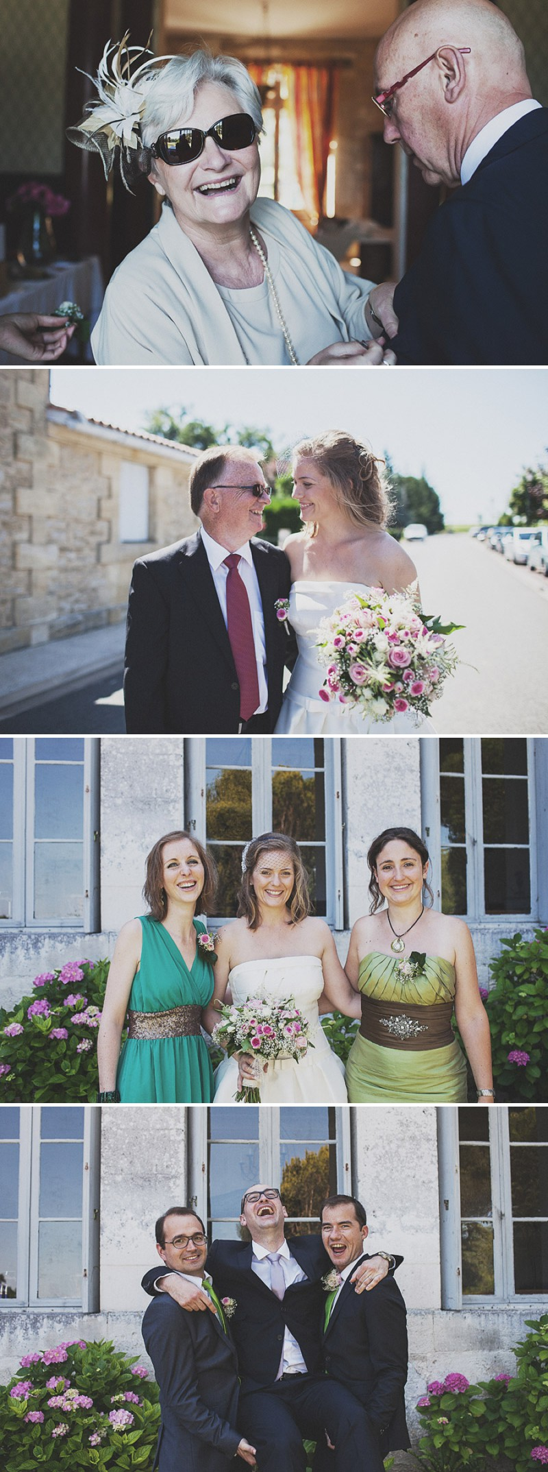 A Beautiful Rustic French Destination Wedding At Rivière de Prats In Gironde With A Rosa Clara Wedding Dress And A Pink Rose Bouquet And An Oyster And Cocktail Buffet By Anna Hardy Photography._0002
