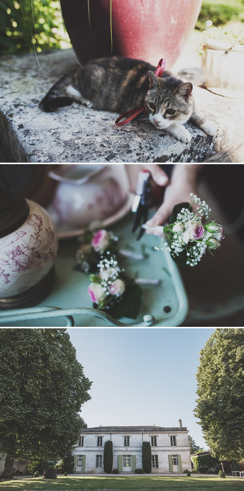 A Beautiful Rustic French Destination Wedding At Rivière de Prats In Gironde With A Rosa Clara Wedding Dress And A Pink Rose Bouquet And An Oyster And Cocktail Buffet By Anna Hardy Photography._0003