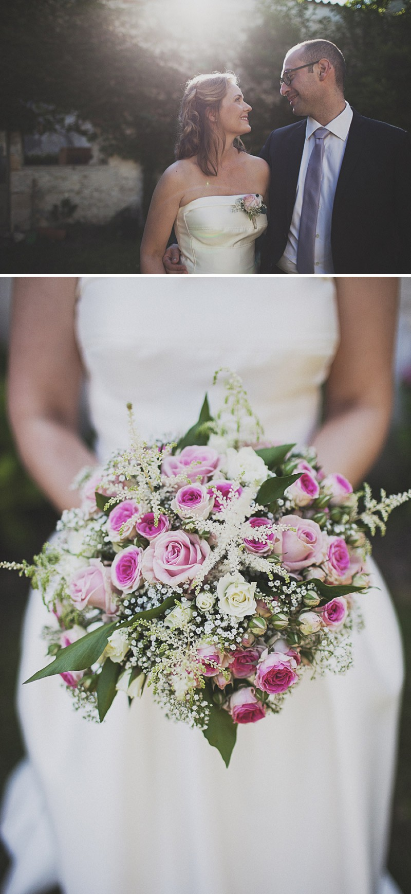 A Beautiful Rustic French Destination Wedding At Rivière de Prats In Gironde With A Rosa Clara Wedding Dress And A Pink Rose Bouquet And An Oyster And Cocktail Buffet By Anna Hardy Photography._0006