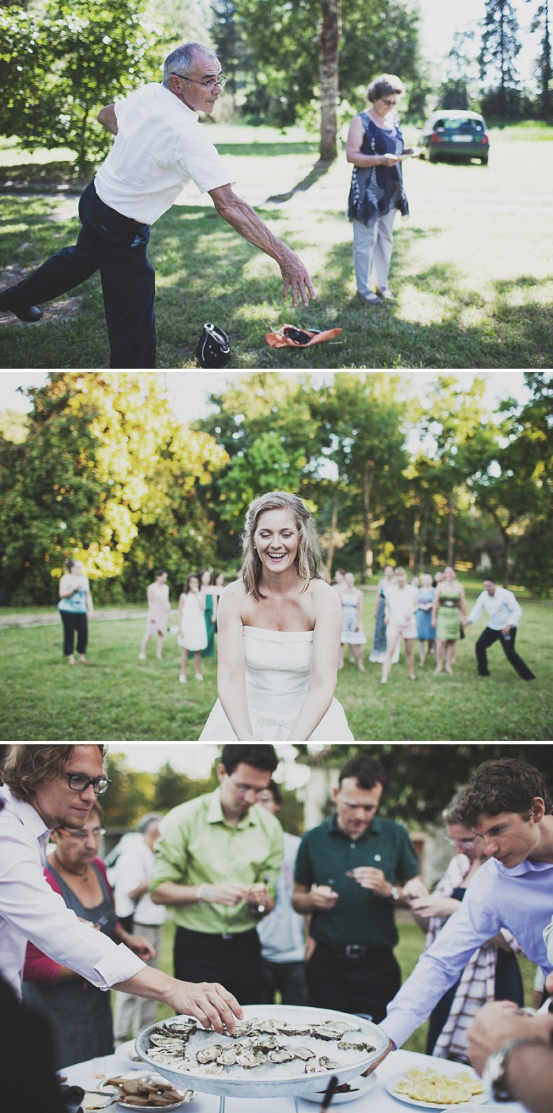 A Beautiful Rustic French Destination Wedding At Rivière de Prats In Gironde With A Rosa Clara Wedding Dress And A Pink Rose Bouquet And An Oyster And Cocktail Buffet By Anna Hardy Photography._0009