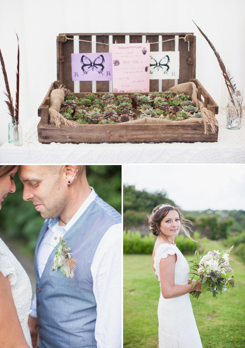 A Beautiful Rustic Peter Pan Themed Wedding With A Daughters Of Simone Wedding Dress At Trevenna Barns in Cornwall With Photography By Hayley Savage._0005