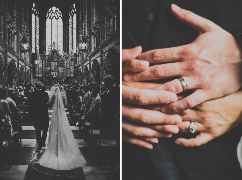 A Bohemian Wedding At Liverpool Cathedral And Owen House Farm Cheshire With Bride In Vintage Family Heirloom Gown Redesigned By Agape Bridal Boutique 2