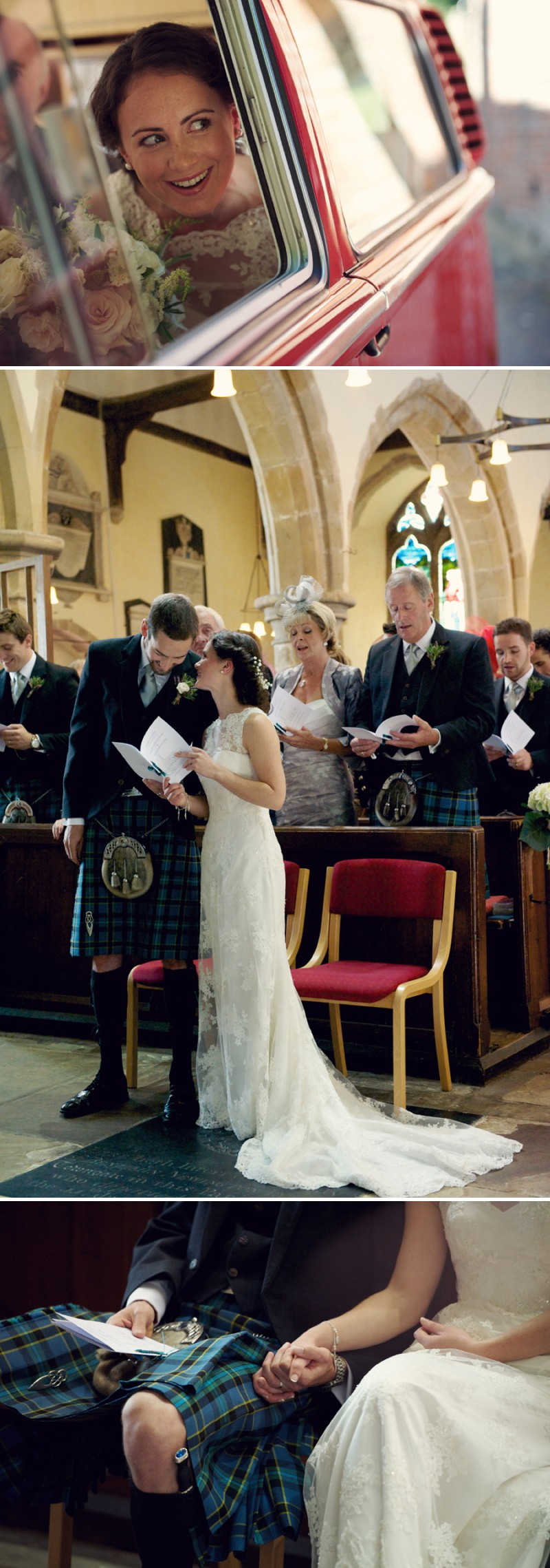 A Rustic Scottish And English Themed Woodland Wedding In