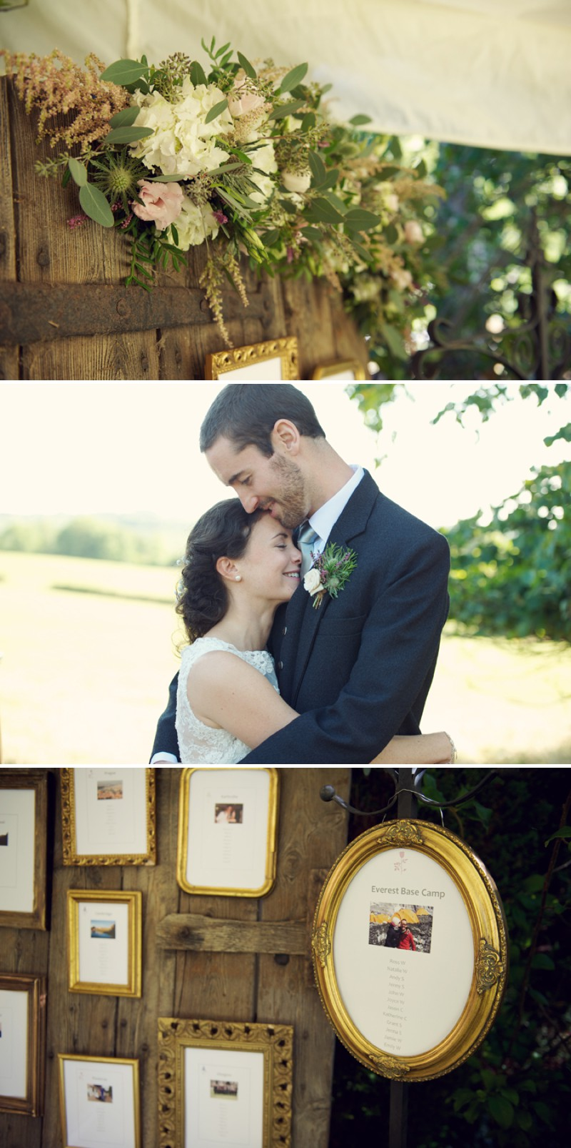 A Rustic Scottish And English Themed Woodland Wedding In Surrey With A Lusan Mandongus Dress And A Thistle And Pink Rose Bouquet Photographed by Rebecca Douglas._0009