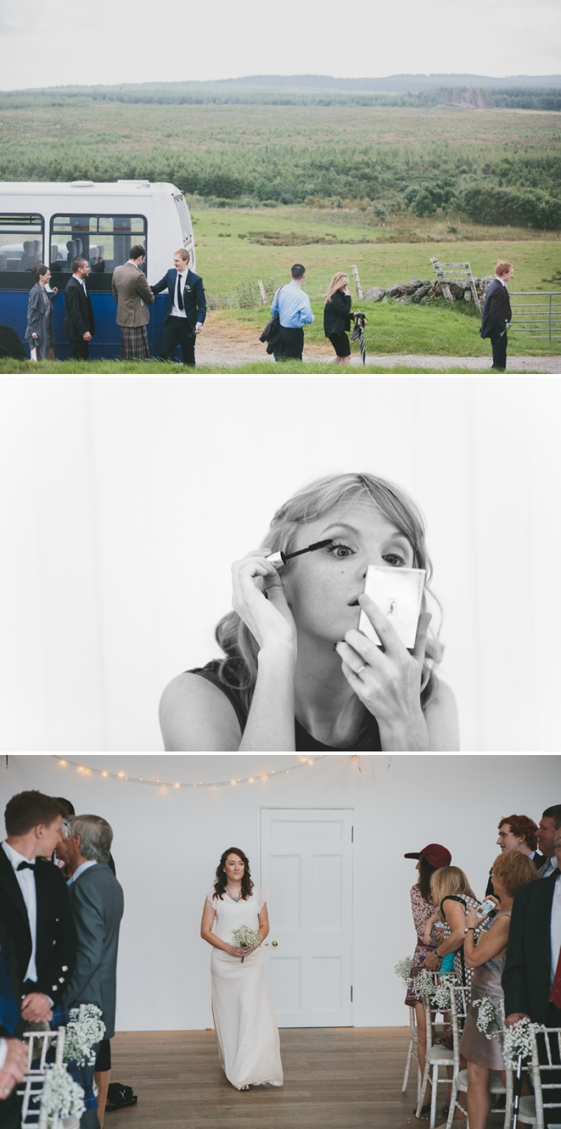 A beautiful modern wedding at Crear in Scotland with a sarah foy dress and feather headdress_0585