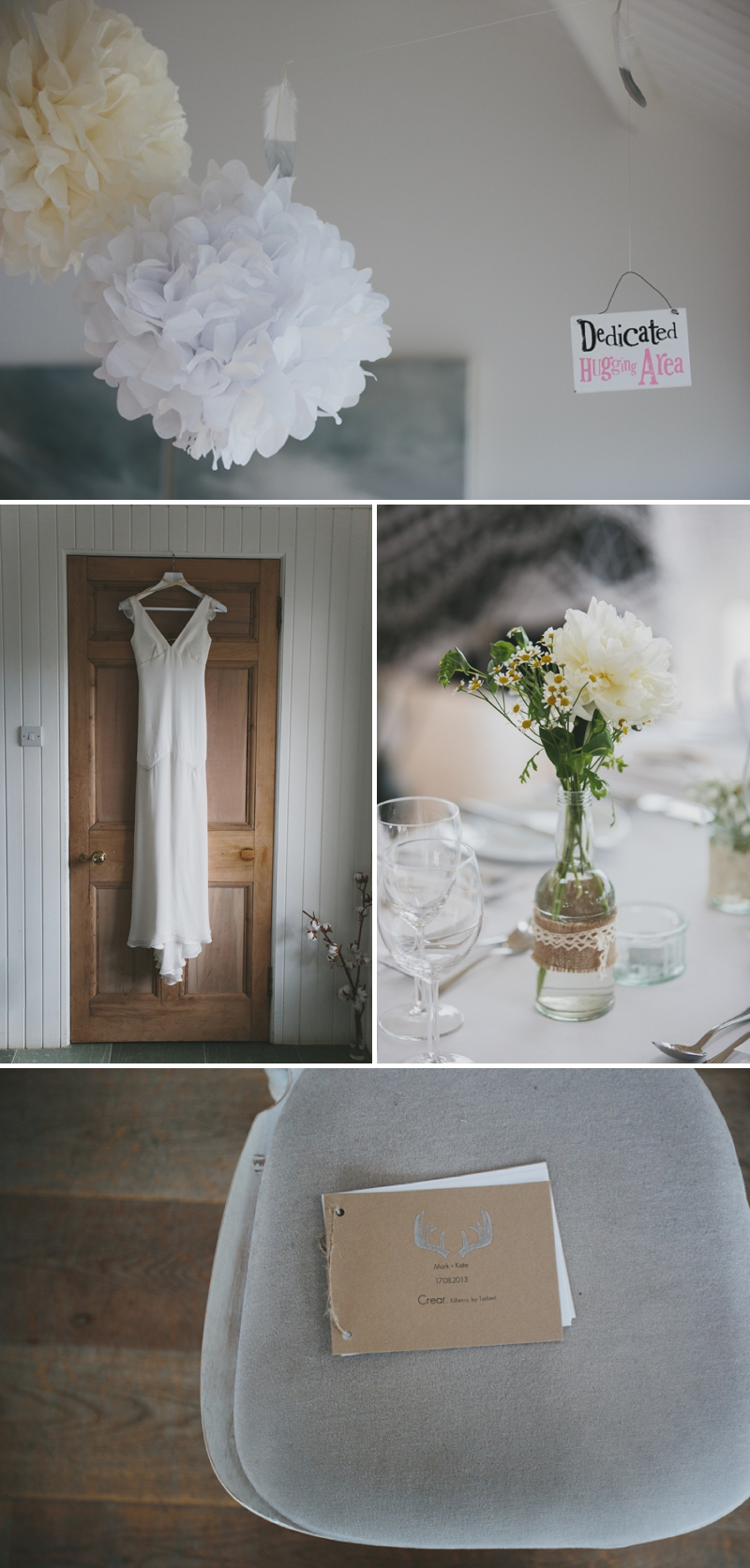A beautiful modern wedding at Crear in Scotland with a sarah foy dress and feather headdress_0586