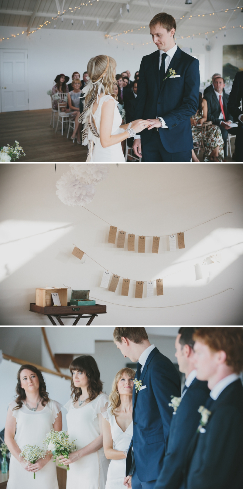 A beautiful modern wedding at Crear in Scotland with a sarah foy dress and feather headdress_0588