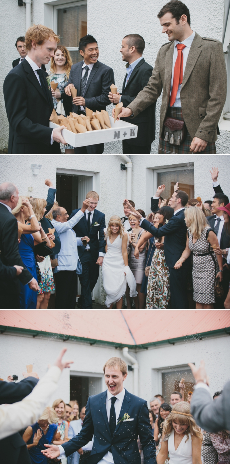 A beautiful modern wedding at Crear in Scotland with a sarah foy dress and feather headdress_0589