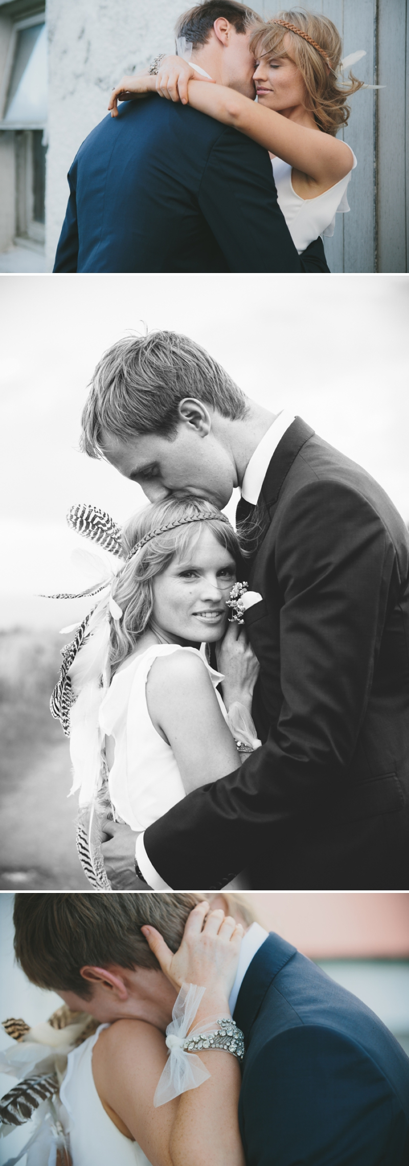 A beautiful modern wedding at Crear in Scotland with a sarah foy dress and feather headdress_0595