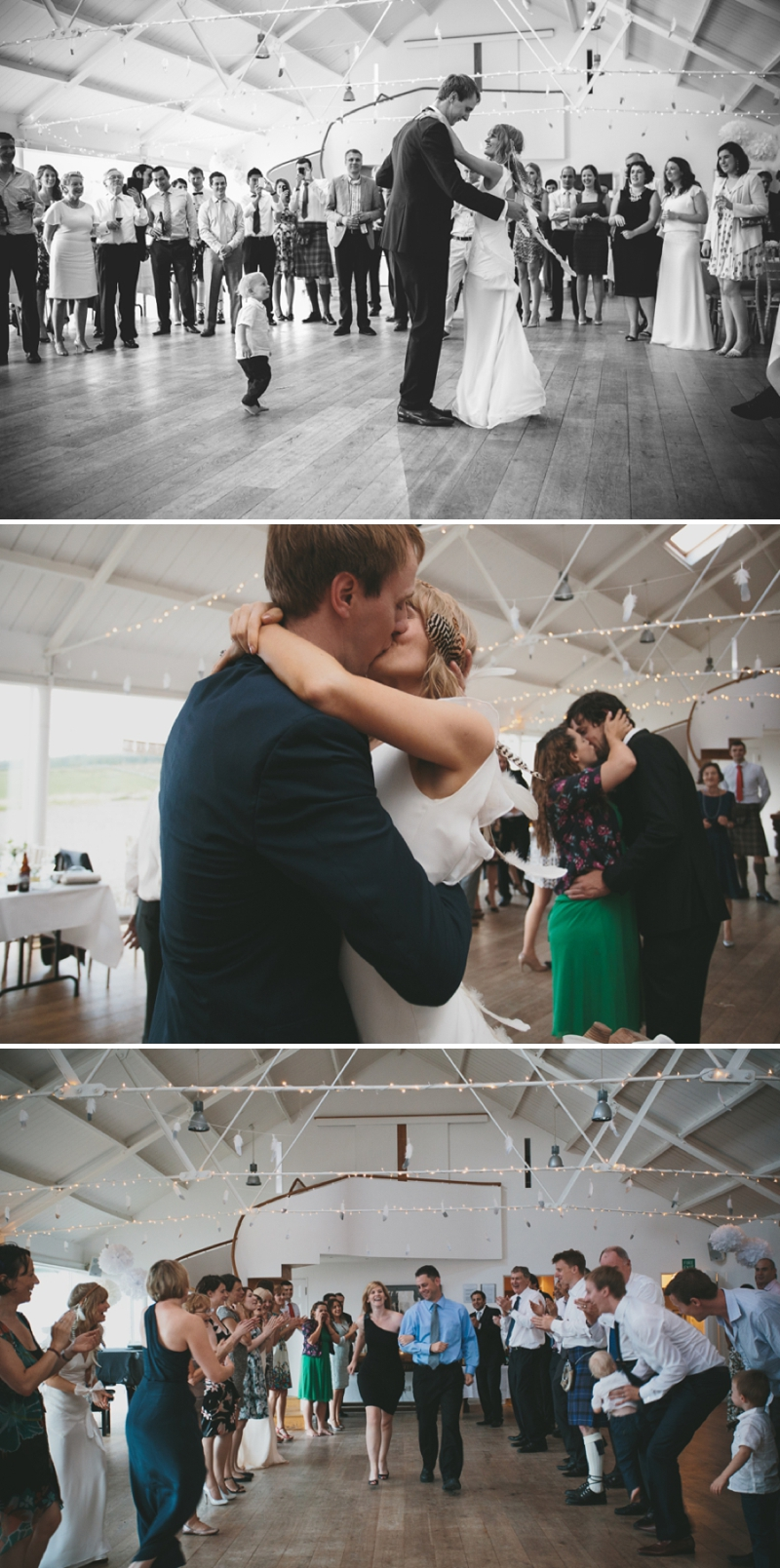 A beautiful modern wedding at Crear in Scotland with a sarah foy dress and feather headdress_0596