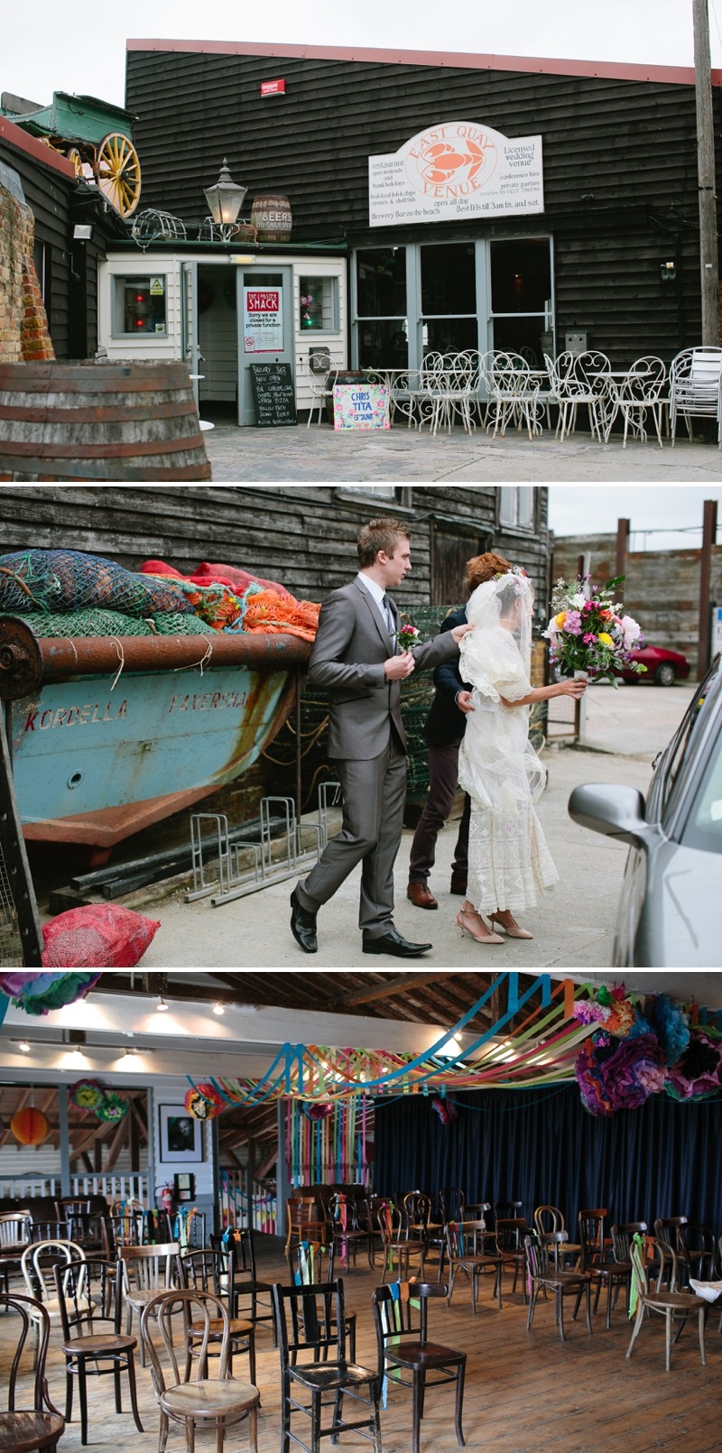 Bohemian Bride for an edwardian mexican themed wedding at The Lobster shack in Whitstable_0564