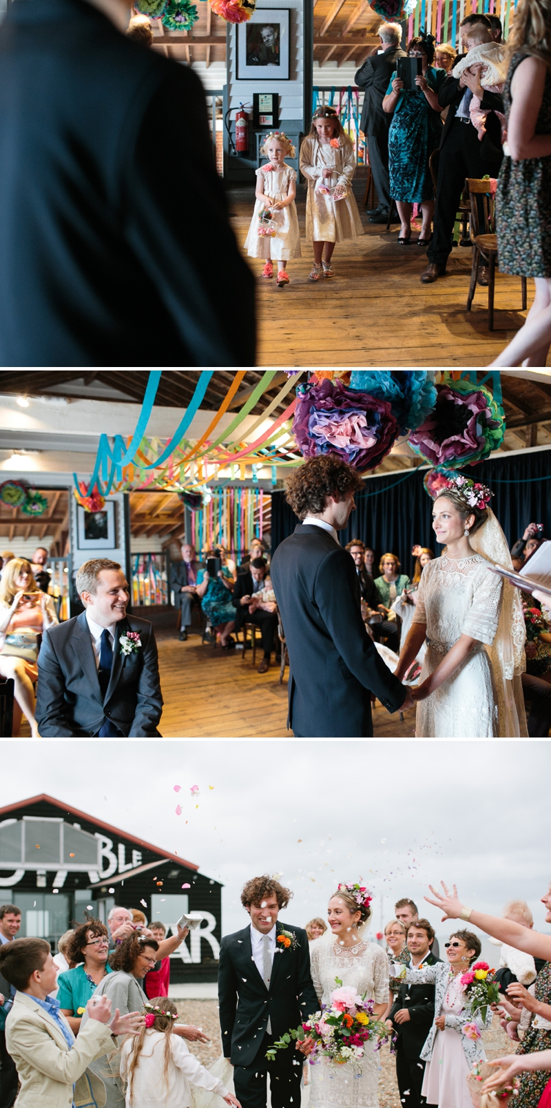 Bohemian Bride for an edwardian mexican themed wedding at The Lobster shack in Whitstable_0565