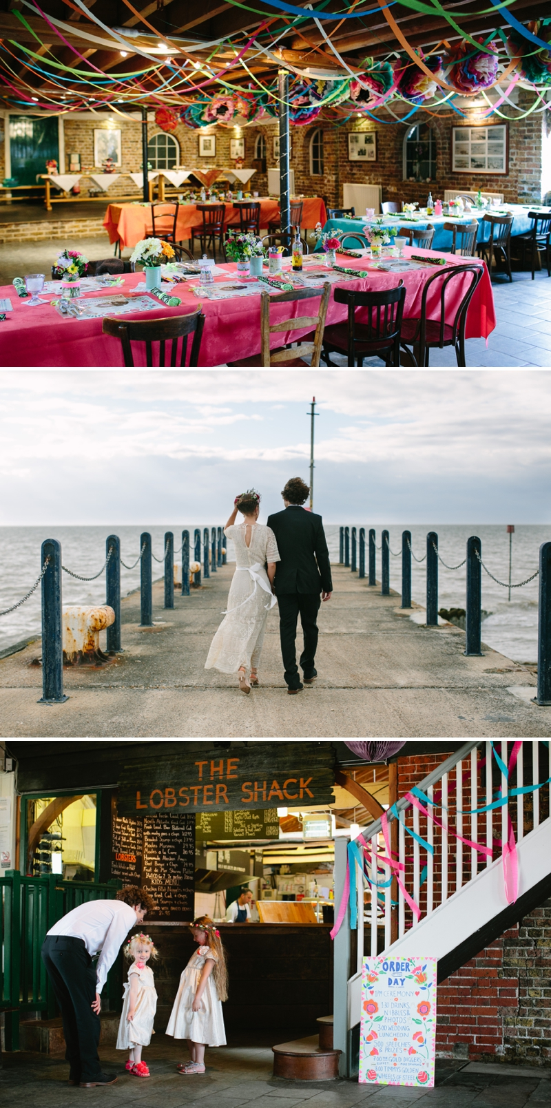 Bohemian Bride for an edwardian mexican themed wedding at The Lobster shack in Whitstable_0567