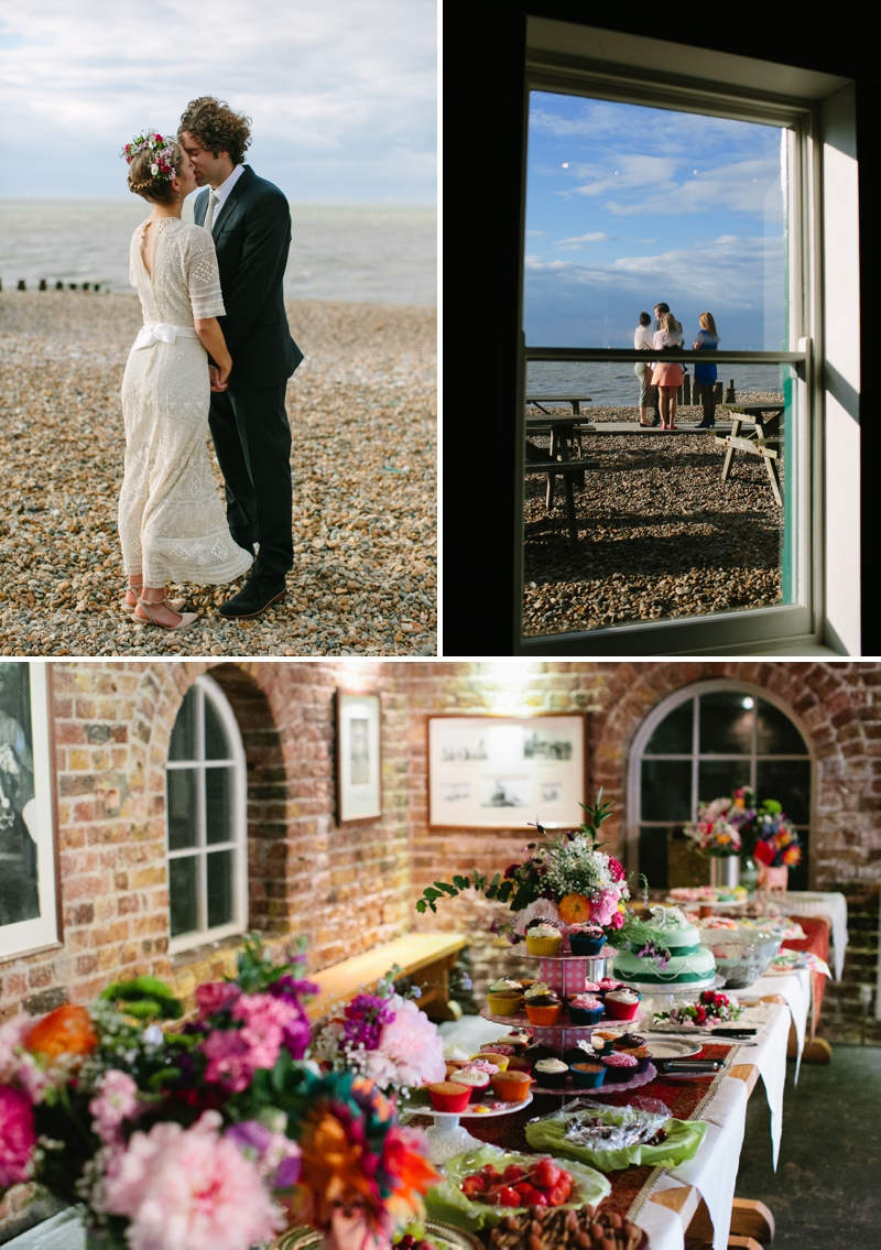 Bohemian Bride for an edwardian mexican themed wedding at The Lobster shack in Whitstable_0568