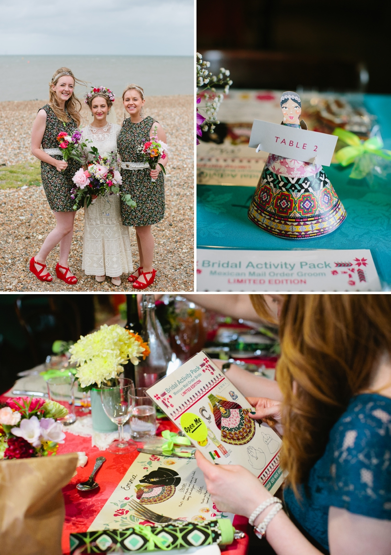 Bohemian Bride for an edwardian mexican themed wedding at The Lobster shack in Whitstable_0570