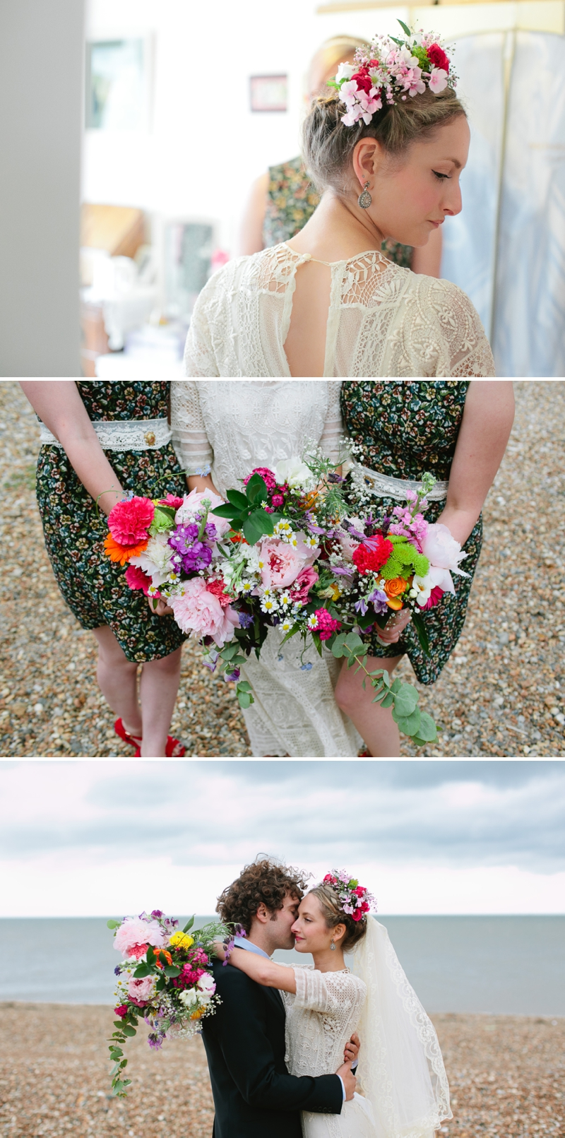 Bohemian Bride for an edwardian mexican themed wedding at The Lobster shack in Whitstable_0572
