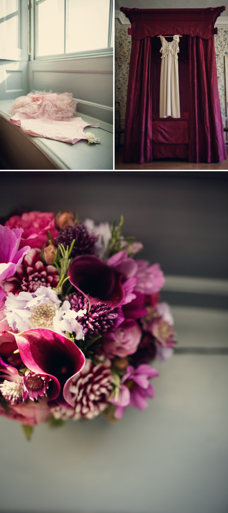 An Intimate And Contemporary Wedding At Valentines Mansion With A Vintage Chanel Wedding Dress And A Cool Water And Dahlia Bouquet By Assassynation Photography.