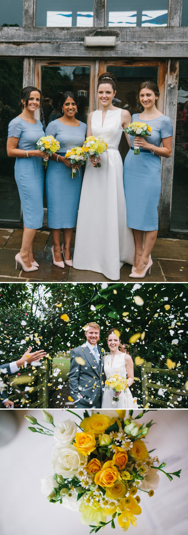 A Barn Wedding In Lichfield With Bride In Jesus Peiro Gown With Pockets And Groom In Bespoke Suit From King And Allen And Bridesmaids In Blue Structured Dresses From Reiss With A Neutral Colour Scheme 5