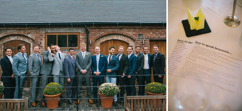 A Barn Wedding In Lichfield With Bride In Jesus Peiro Gown With Pockets And Groom In Bespoke Suit From King And Allen And Bridesmaids In Blue Structured Dresses From Reiss With A Neutral Colour Scheme 7