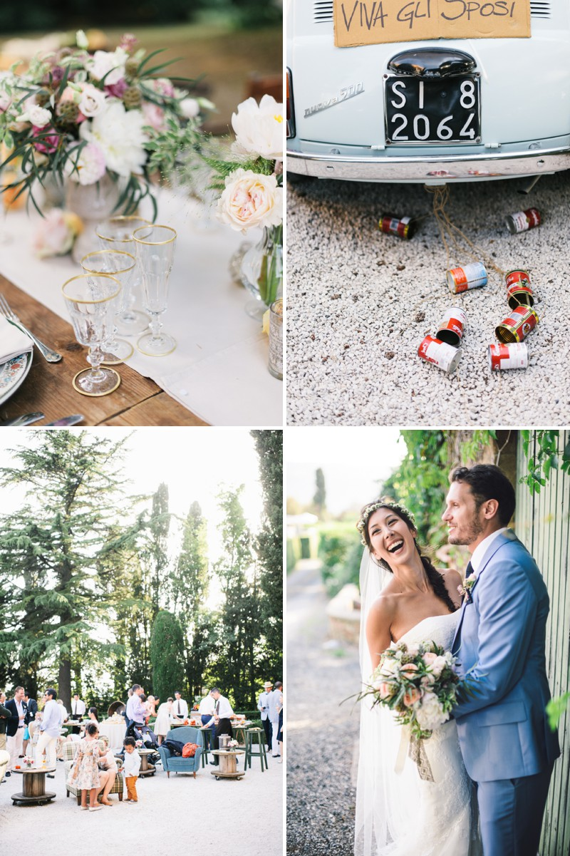 A Beautiful Italian Destination Wedding At Villa Di Ulignano With A Pronovias Dress And A Flower Wreath And A Rose Bouquet By Lisa Poggi Photography._0007