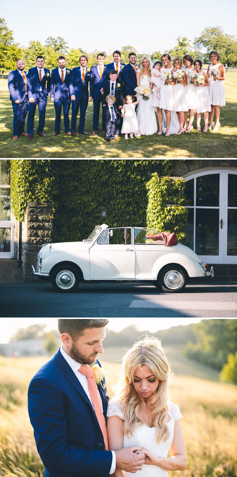 A Modern And Romantic Wedding On The Yorkshire Dales With A Suzanne Neville Lucia Wedding Dress And A Peony Bouquet By Albert Palmer Photography._0017