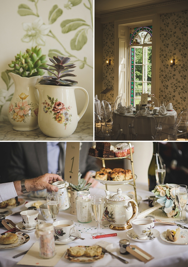 An English country garden tea party wedding with vintage touches at Valentines Mansion. Rachael Simpson shoes and photographs by Rik Pennington_0008